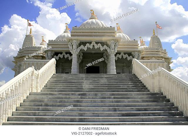 Entrance to the BAPS Swaminarayan Mandir Hindu temple in Toronto. The magnificent and intricately carved BAPS Swaminarayan Mandir in Toronto cost of $40 million...