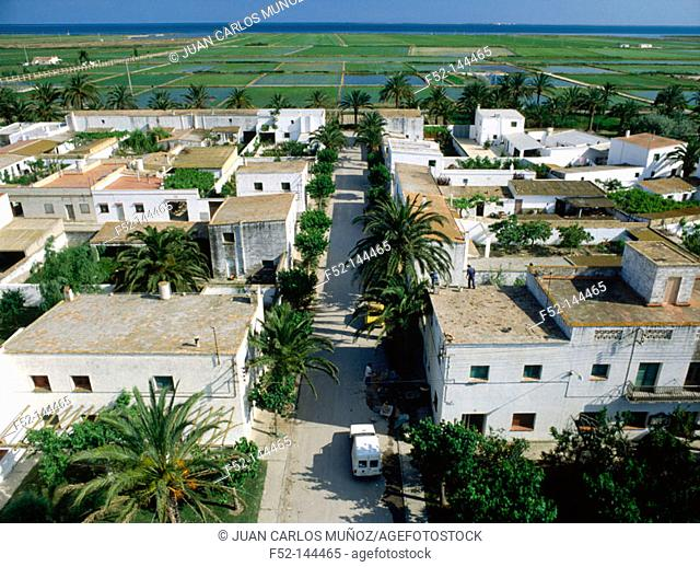 Poblenou del Delta in Ebro delta. Tarragona province. Cataluña, Spain