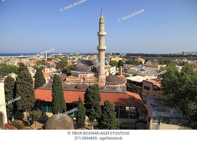 Greece, Dodecanese, Rhodes, Mosque of Suleiman,