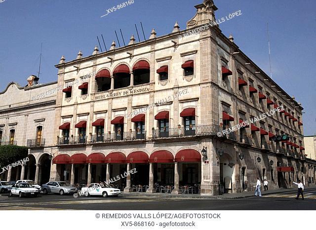 Mexico. Michoacan. Morelia. Virrey Hotel