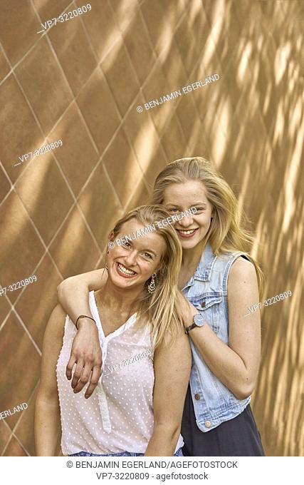 portrait of two women, in Munich, Germany
