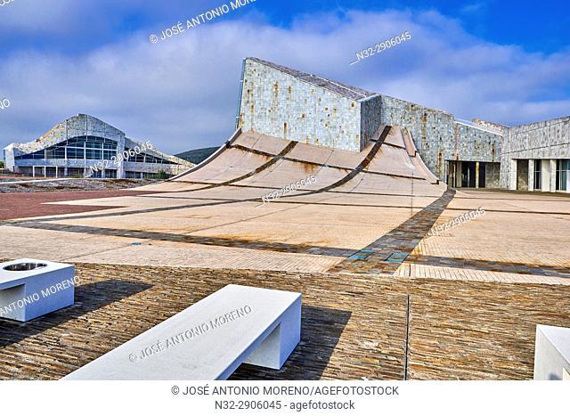 City of Culture of Galicia, Cidade da Cultura de Galicia designed by Peter Eisenman, Santiago de Compostela, A Coruña province, La Coruña, Galicia, Spain