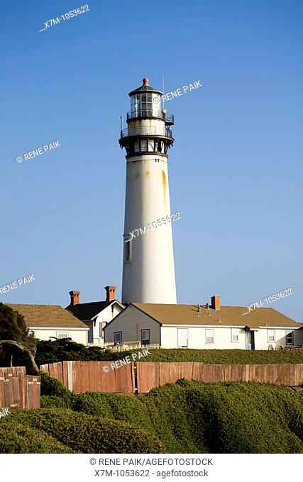 At 115 feet Pigeon Point Lighthouse in California is one of the tallest lighthouses in America  From this view, the light station buildings at the base of the...