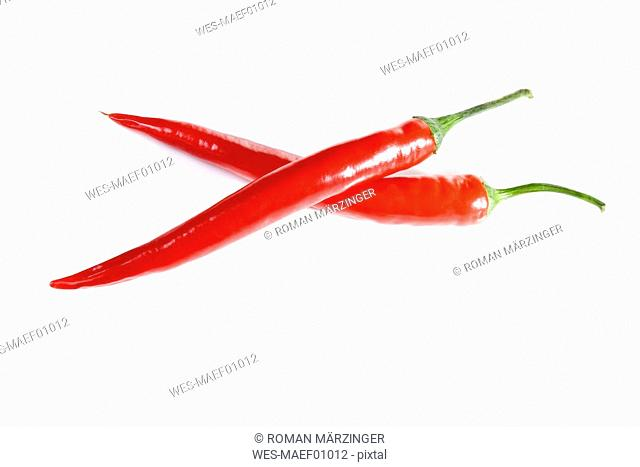 Red peppers, close up