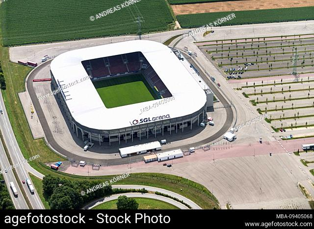 Aerial view of the SGL Arena in Augsburg