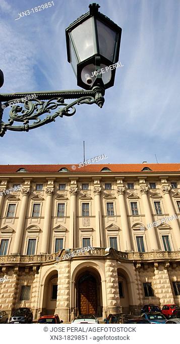 Czernin Palace, Cernínský palác, early baroque, Loretanske namesti, Hradcany, Prague, Czech Republic, Europe
