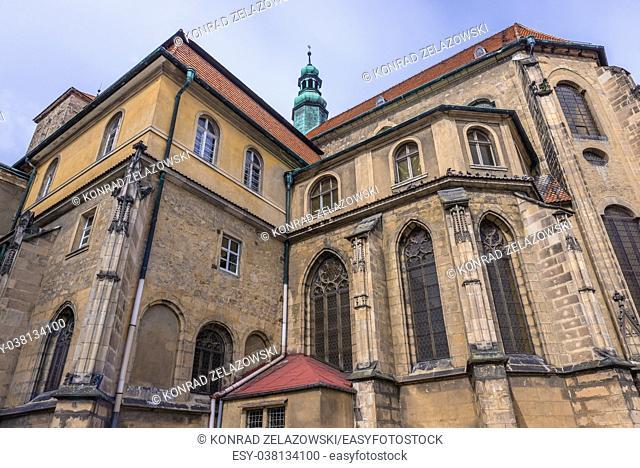 Roman Catholic parish Church of the Assumption of the Blessed Virgin Mary in Klodzko town, Lower Silesian Voivodeship of Poland