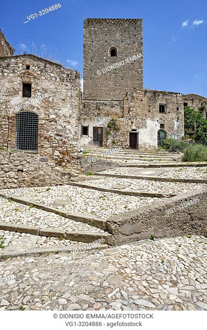 Craco, abandoned village, Matera district, Basilicata, Italy, Europe