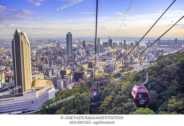 Japan , Kobe City from Nunobiki Herb Garden