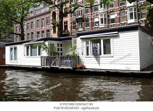 House on the canal in Amsterdam