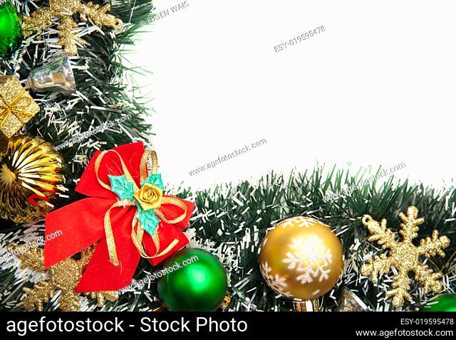 Christmas festive decoration.Christmas card background. Decoration Border desig