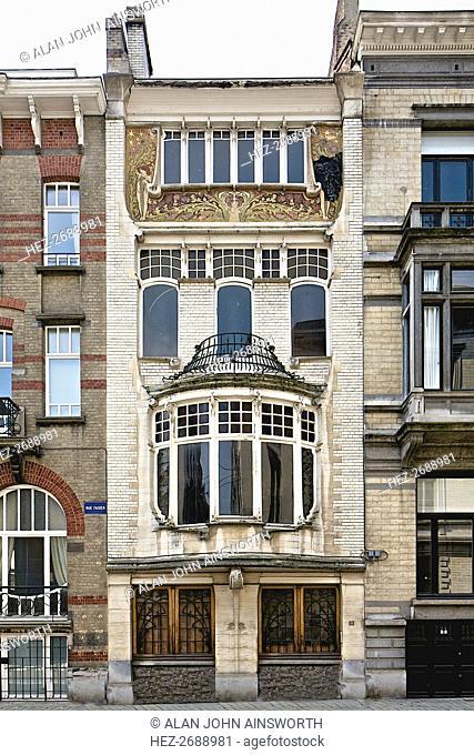 Maison Beukman, 83 RRue Faider, Brussels, Belgium, c2014-2017. Artist: Alan John Ainsworth