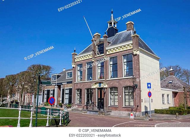 Town hall in the center of historical IJlst