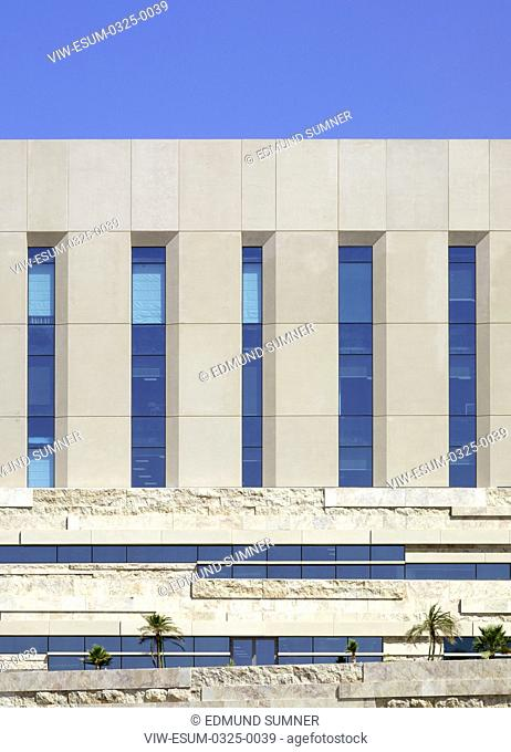 Cladding detail. National Bank of Oman HQ, Muscat, Oman. Architect: LOM Architecture and Design, 2017
