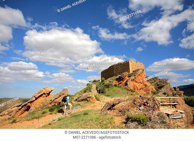 Herce castle, Biosfere reserve, La Rioja, Spain