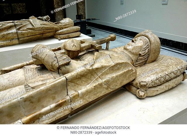 Effigy of Don Garcia de Osorio and Doña Maria de Perea. Alabaster. Spain. Toledo. 1499-1505. The Victoria and Albert Museum. London. England. UK