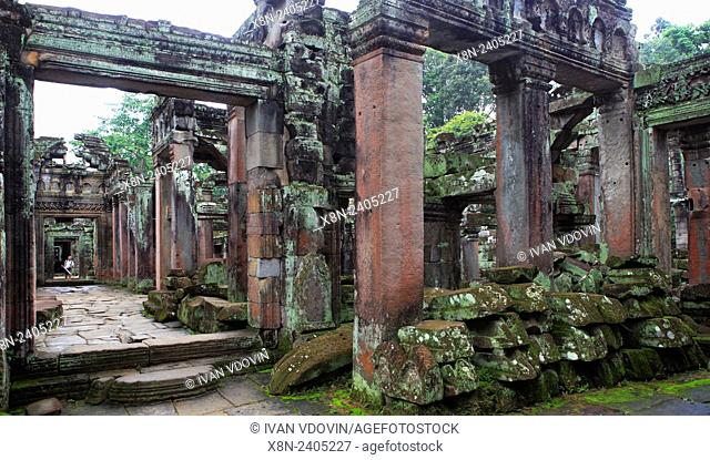 Preah Khan temple (12th century), Angkor, Cambodia