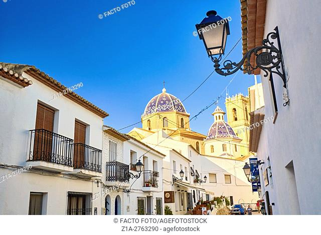Street in Altea. Alicante. Valencia community. Spain