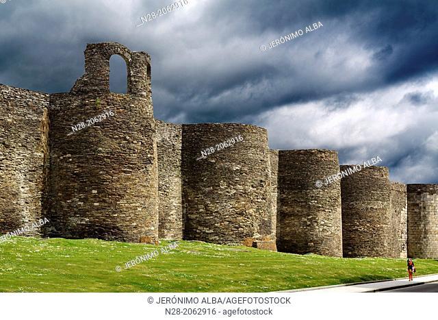 Roman Wall, Lugo, Galicia, Spain
