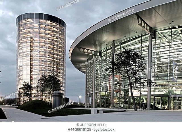 Germany, Lower Saxony, Wolfsburg, autocity VW, Volks Wagen, car city of Volkswagen