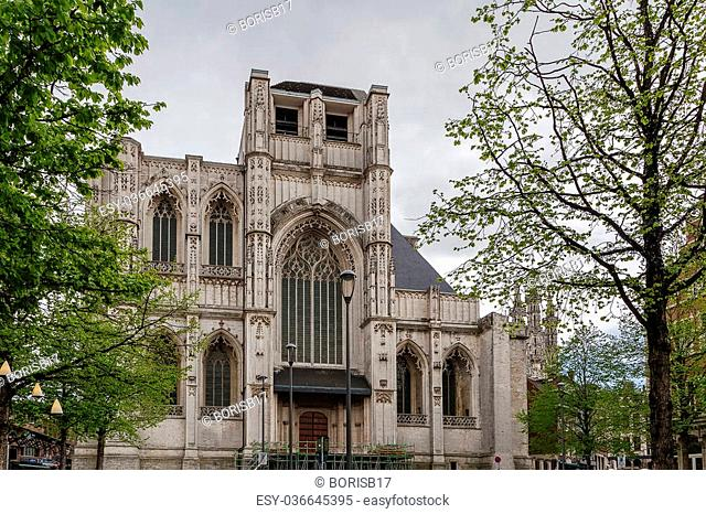 Saint Peter's Church of Leuven, Belgium, is situated on main market square. Built mainly in the 15th century in Brabantine Gothic style