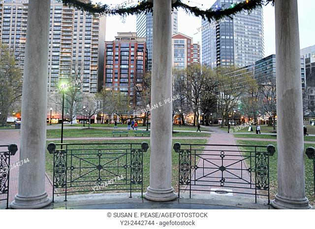Looking out from the bandstand at Boston Common, Boston, Massachusetts, United States