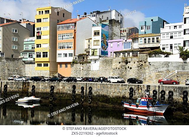 The harbour of Malpica de Bergantiños - Atlantic coast of Spain - Galicia region