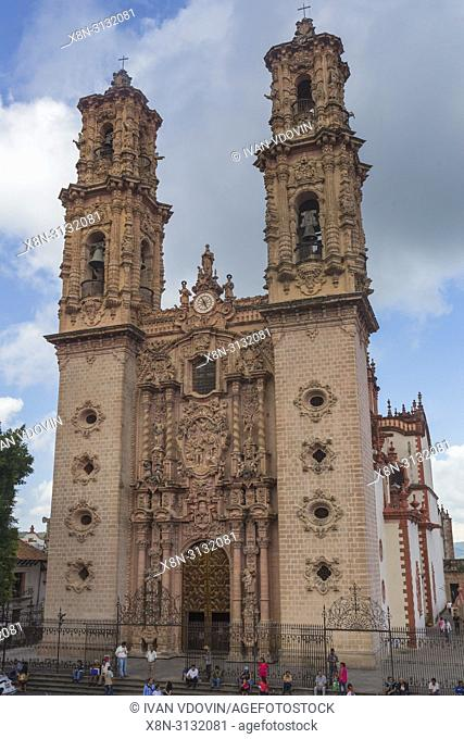 Santa Prisca church (1758), Taxco, Guerrero state, Mexico
