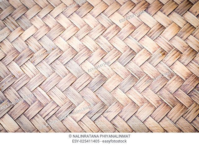 Sheet of bamboo craft texture, stock photo