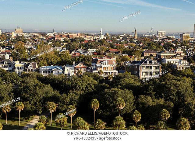 Aerial view of the Battery Charleston, South Carolina