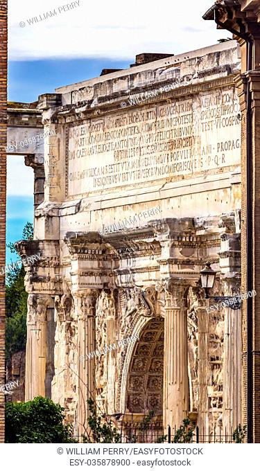 Arch of Constantine Rome Italy Arch built in 315 AD to celebrate Emperor Constantine's victory in 312 over co-emperor Maxenntius