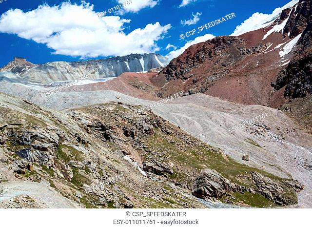 Colorful mountains. Tien Shan