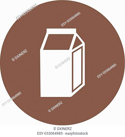 Milk, box, carton icon vector image. Can also be used for household objects. Suitable for use on web apps, mobile apps and print media
