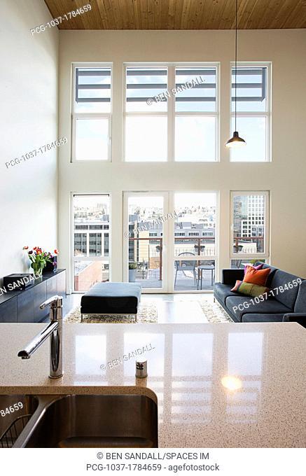 Efficiency Apartment Living Room
