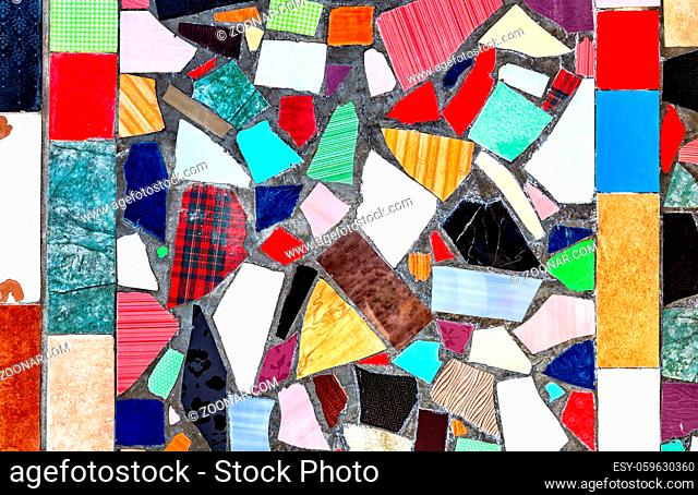 Abstract colorful mosaic grunge background of broken tiles