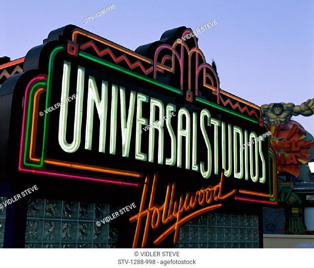 America, Amusement, Arts, California, Entertainment, Film, Holiday, Hollywood, Landmark, Los angeles, Movies, Neon, Park, Sign