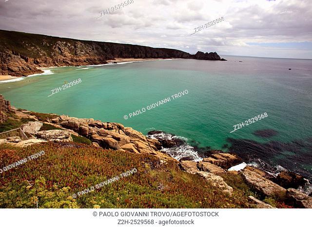 Porth Chapel beach, Porthcurno, Cornwall, England, United Kingdom
