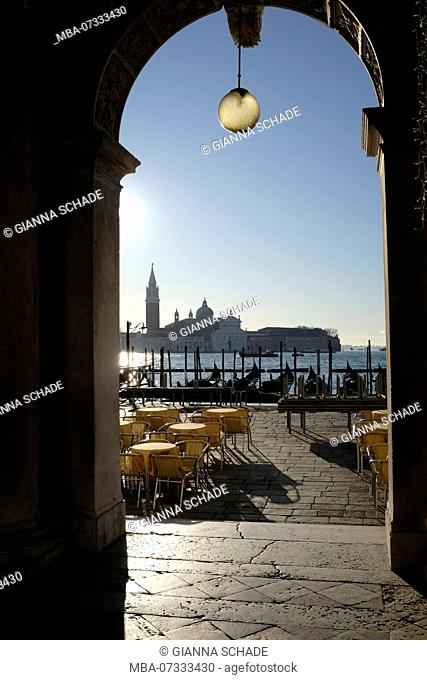 View from St. Mark's Square in Venice towards S.Giorgio Maggiore on Giudecca