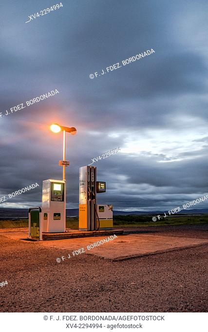 Petrol station at Hrauneyjar in the highlands. Iceland