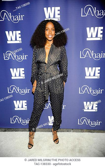 Singer Kelly Rowland attends the LA Hair premiere at the Avalon on July 14th, 2015 in Hollywood, California
