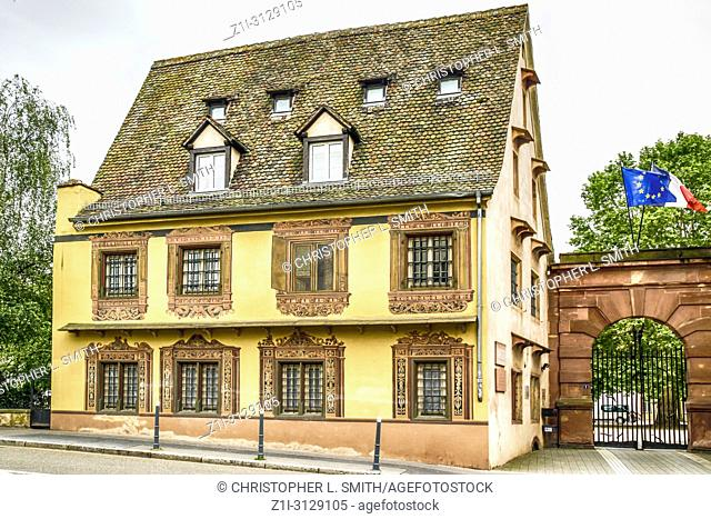 Medieval house in the Barrage Vauban area in the City of Strabourg France