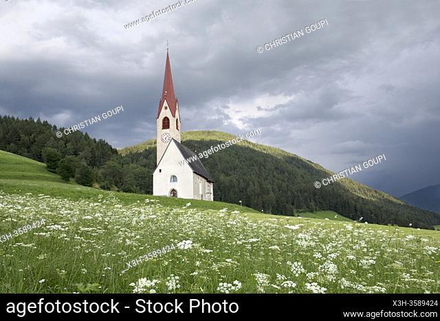 Eglise Saint-Jacques, Nessano / Nasen, Region du Trentin-Haut-Adige, Tyrol du Sud, Italie, Europe du Sud/St James Church at Nessano / Nasen, Trentino-Alto Adige