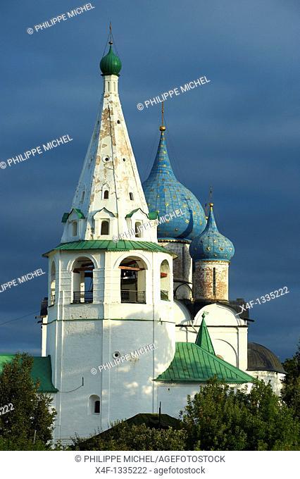 Russia, Rossiya, Vladimir Oblast, Golden Ring, Suzdal, Unesco world heritage, Fortified citadel 'kremlin'  Cathedral of the Nativity, 12th century