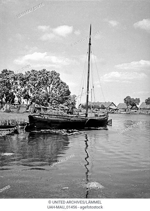 Das Dorf Karkeln im Memeldelta in Ostpreußen, 1930er Jahre. The village Karkeln in the Memel delta, East Prussia, 1930s