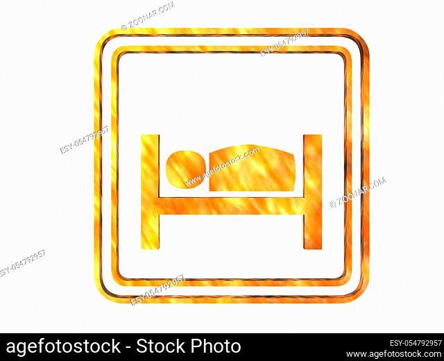 Symbol für Übernachtungsmöglichkeiten