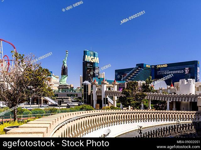 USA, Nevada, Clark County, Las Vegas, Las Vegas Boulevard, The Strip, MGM Grand Hotel