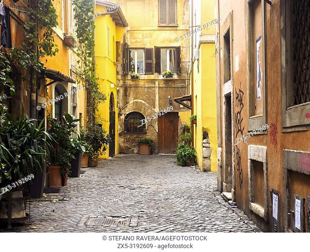 Vicolo Torre in Trastevere - Rome, Italy