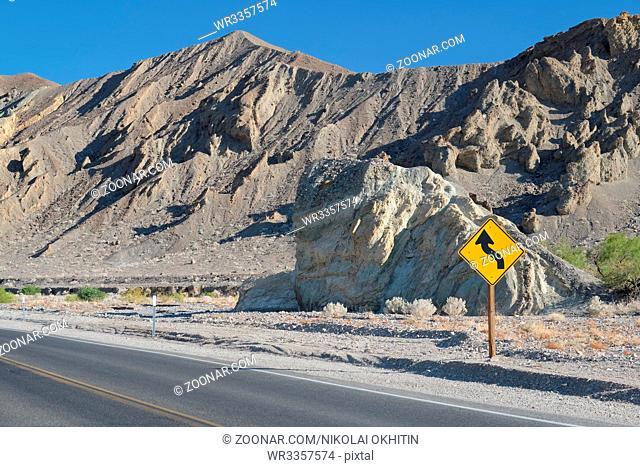 Open highway in Death Valley National Park, California, USA