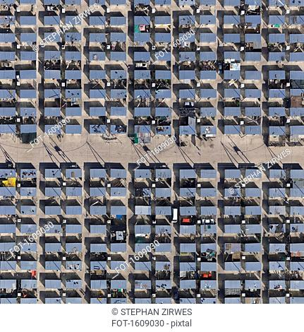 Full frame aerial view of township, Cape Town, South Africa