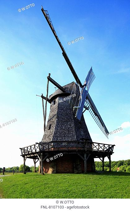 Traditional windmill in open-air museum Detmold, Germany